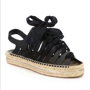 Rebecca Minkoff Black Gemma Espadrille Sandals 8.5